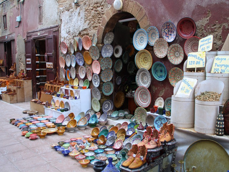 Pottery in the medina of Essaouira