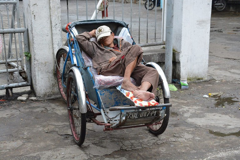 Cyclo driver taking a nap | © Paul Arps/Flickr