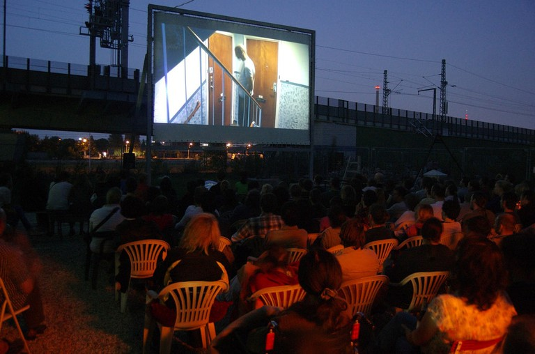 Open-air Kino in Moabit, Berlin