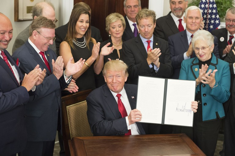 President Trump signing an executive order