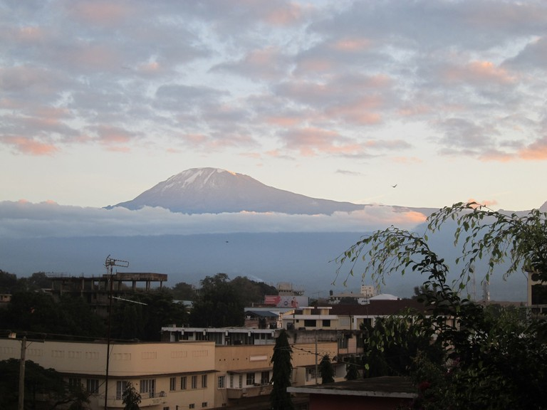 Moshi with Mount Kilimanjaro in the background