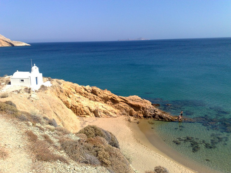 Secluded church by the sea, Anafi
