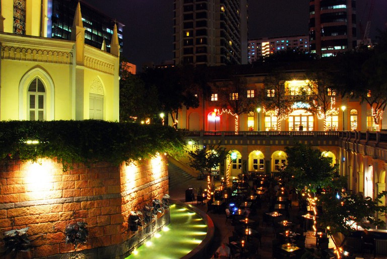 CHIJMES restaurant complex at night