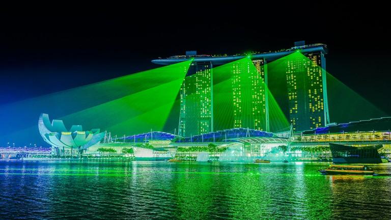 Green Laser Shower
