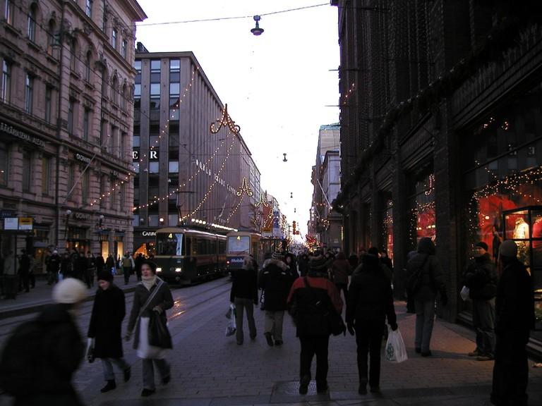 Main shopping street in Helsinki