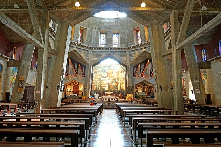 Although rebuilt and expanded throughout the centuries, many believe this original church in Nazareth to be from the 4th century