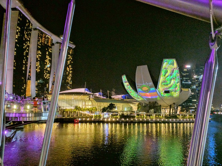 Artistic projections on Artscience Museum