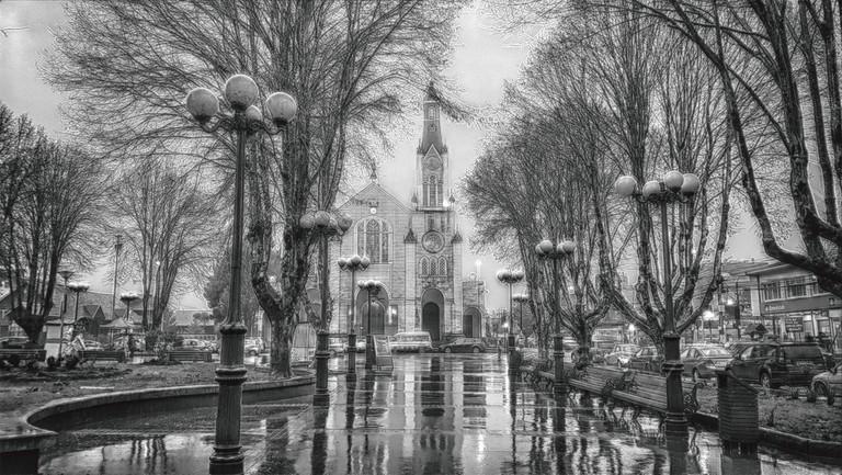 Rainy Plaza de Armas