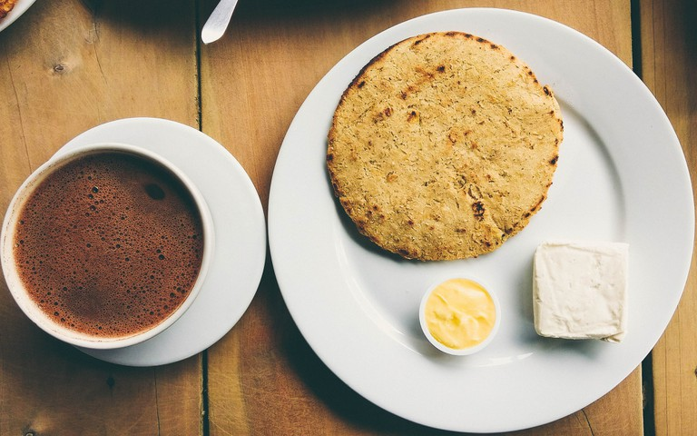Cheese and hot chocolate: actually a thing in Colombia!