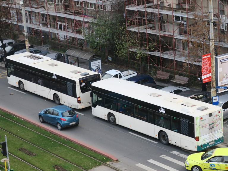 Buses in Bucharest