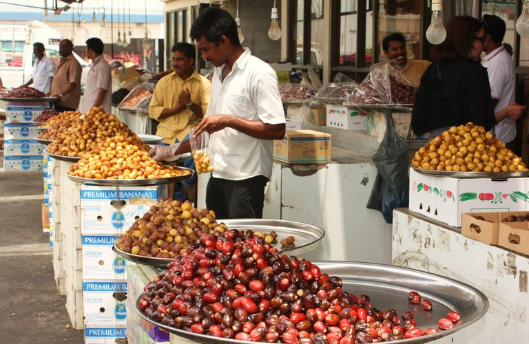You can either get fresh dates, like at the market shown above, or dried dates which are usually sold in malls or in tourist areas