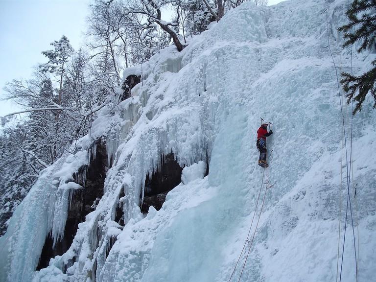 Ice climbing in Rjukan
