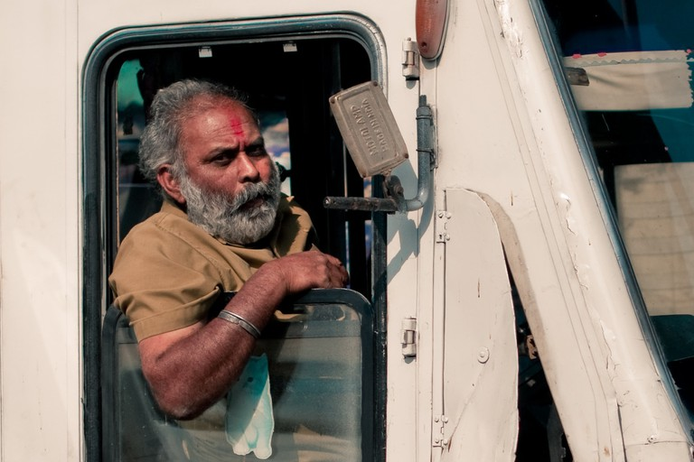 Transport drivers in India have a typical head wobble to say no or okay