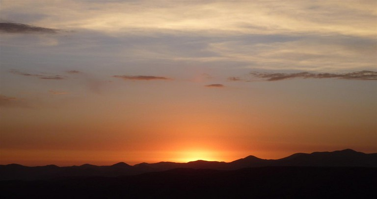 Sunset in the Andes