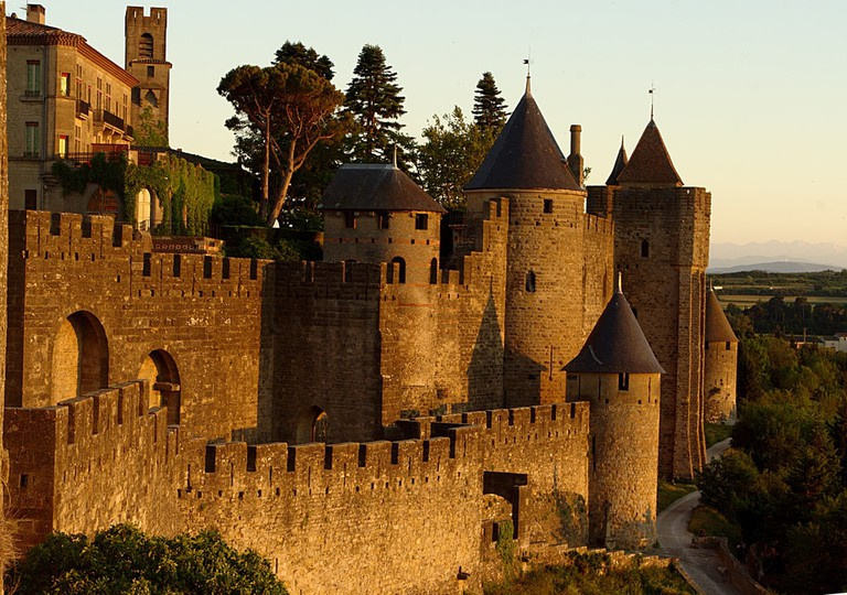 Carcassonne at sunset