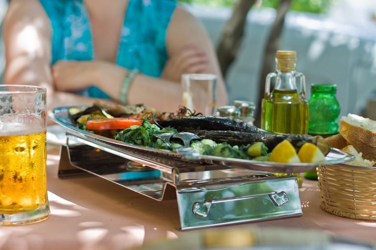 Lunch in Brela