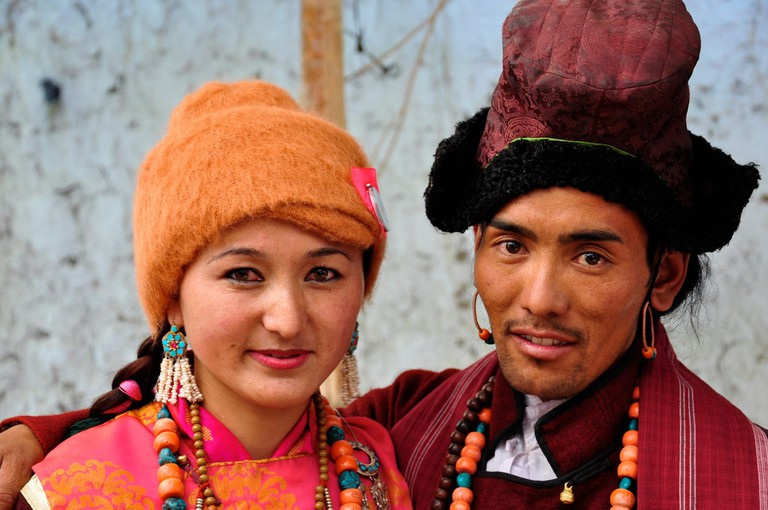 A couple from Ladakh, Jammu and Kashmir