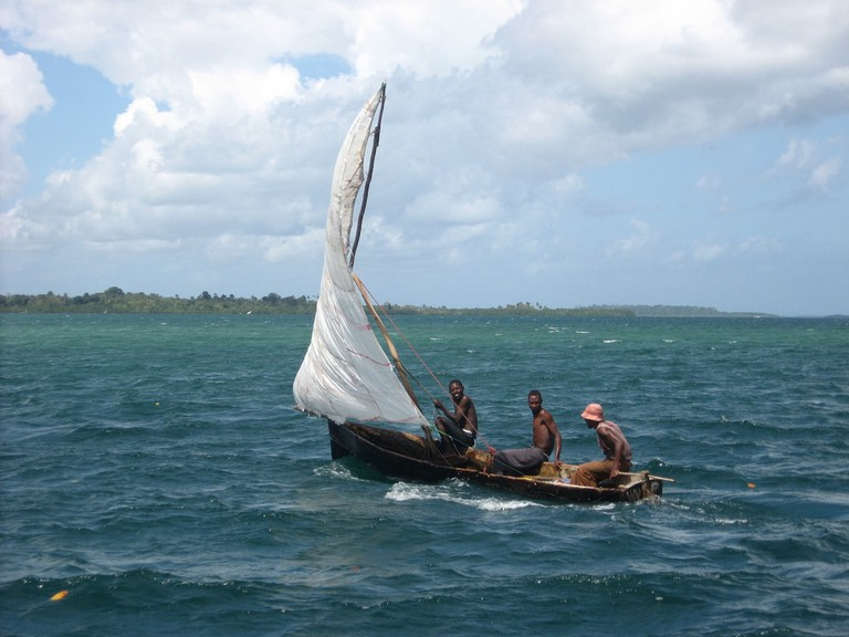 Emirati Arabs would have traveled to places like Zanzibar on traditional dhow boats, which interestingly is still used as a word to describe small boats on the island of Zanzibar