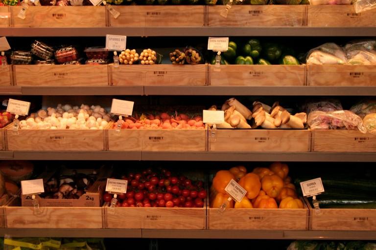 The amazing selection of veggies at Urban Deli