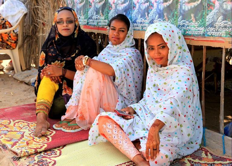 Iranian ladies from Hengam Island in the Persian Gulf