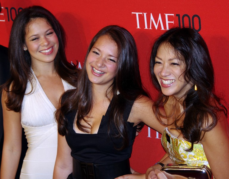 Amy Chua (right) and her daughters