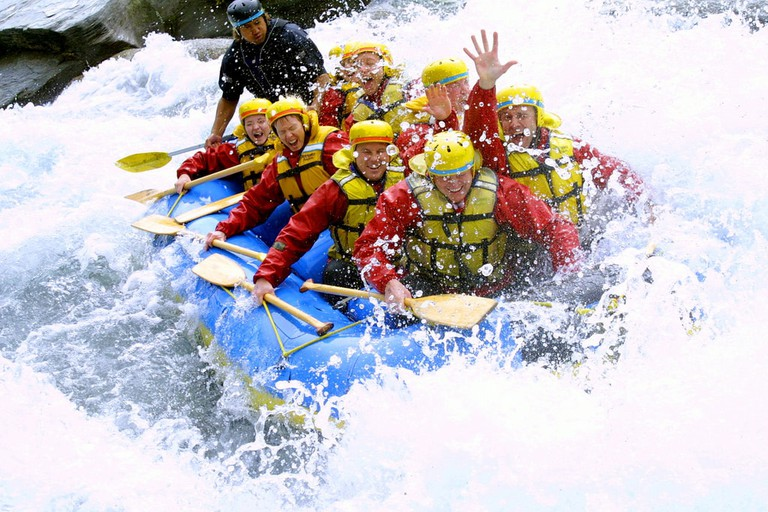 Rafting on the Shotover River, Queenstown