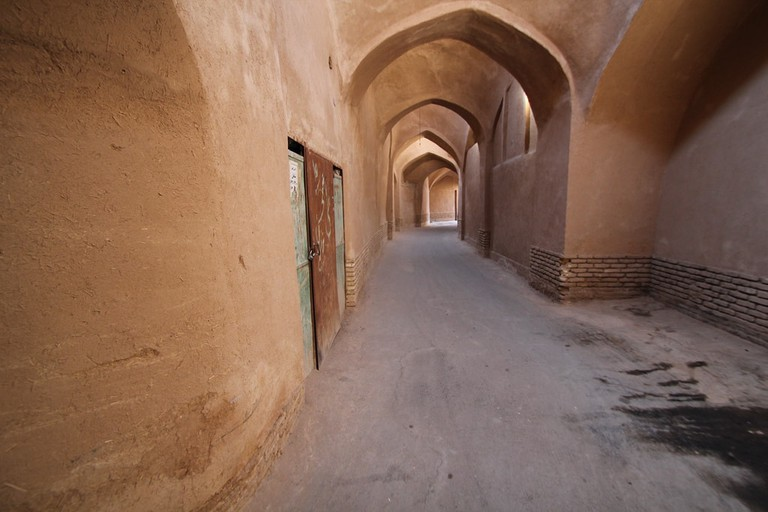 Covered walkway in Yazd