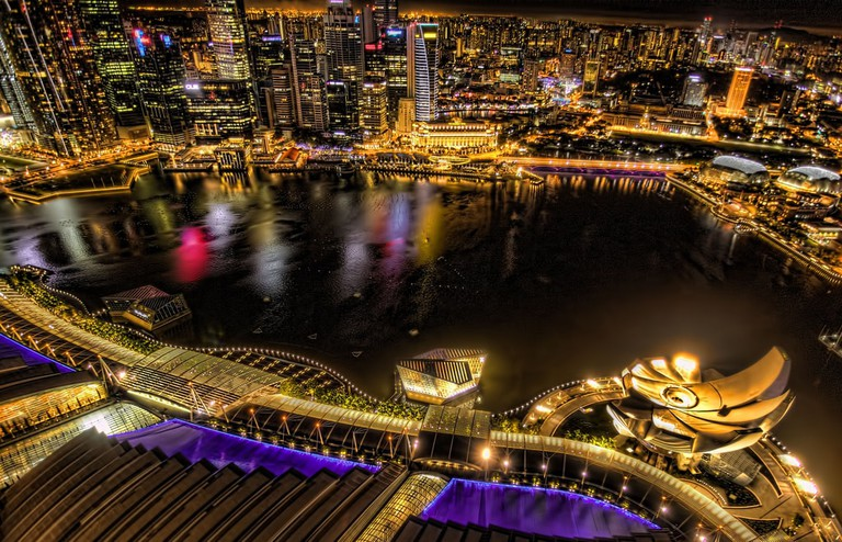 View from the rooftop of Marina Bay Sands