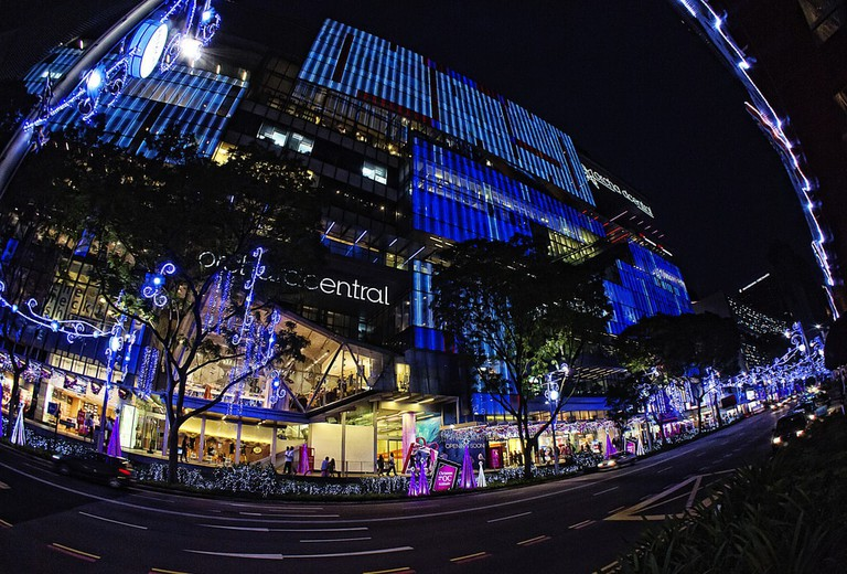 Christmas lights on Orchard Road