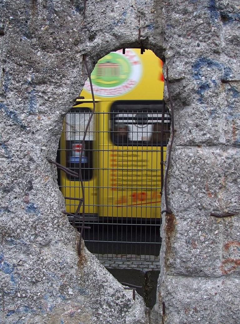 Window in the Berlin Wall