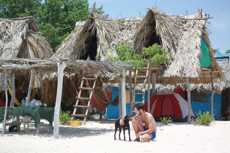 Playa Blanca is a wonderful beach to spend a night at near Cartagena