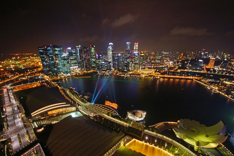 View of the skyline from Marina Bay Sands