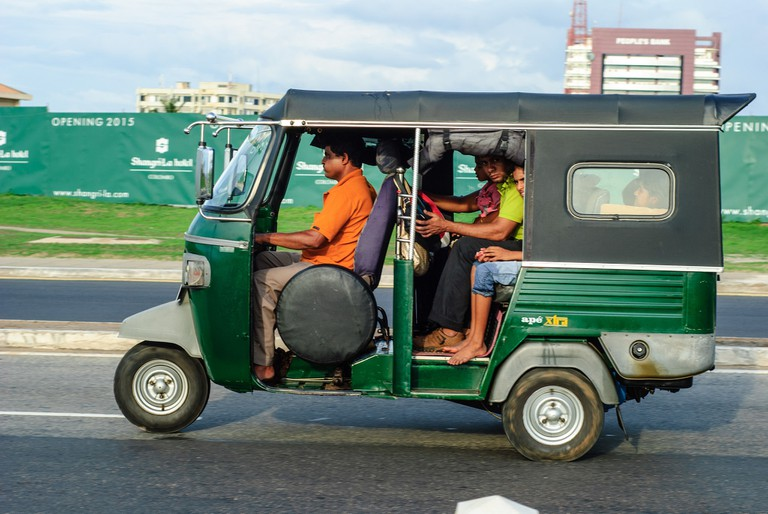 Getting around by tuk tuk