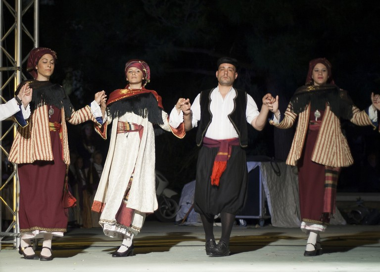 Traditional dance in Symi