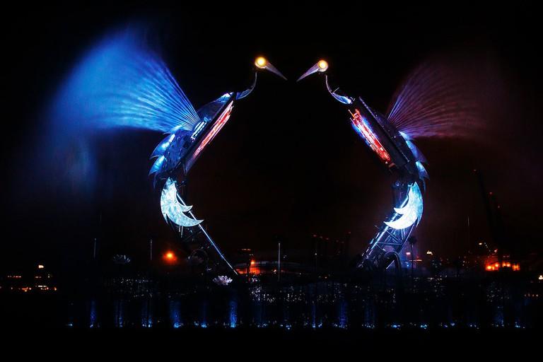 Spectacular Crane Dance in Sentosa