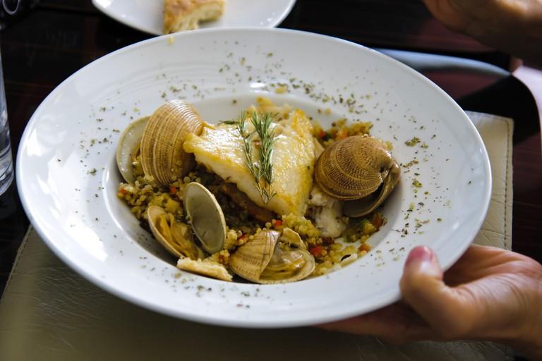 Chilean seafood dish