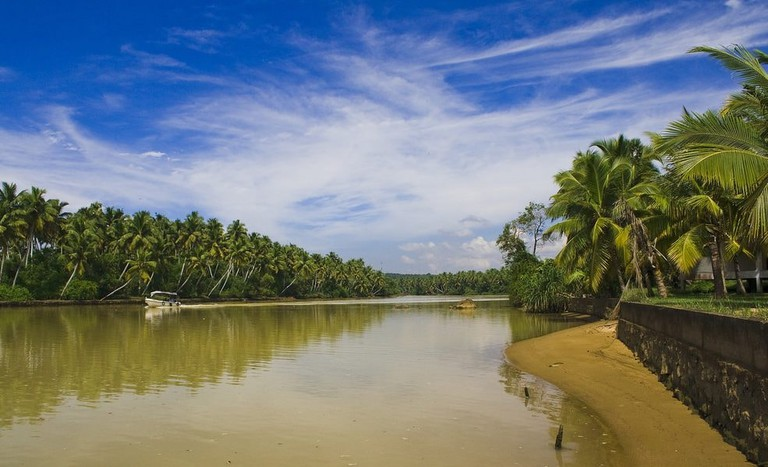 Palm-fringed backwaters