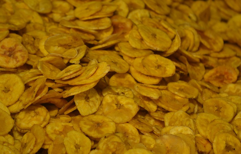 Banana chips are part of starters served during sadya – the traditional Kerala feast