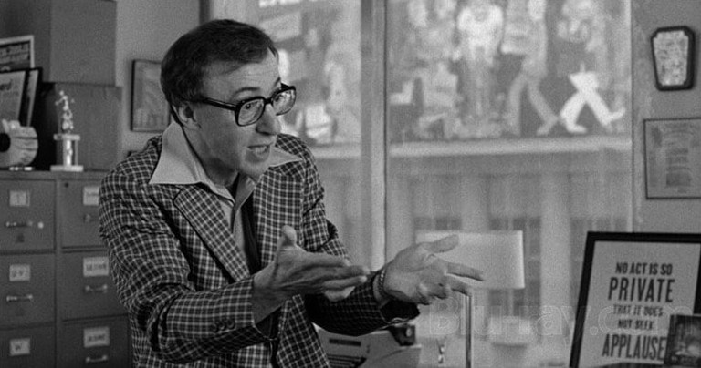 Brill Building occupant Danny Rose (Woody Allen) in Broadway Danny Rose