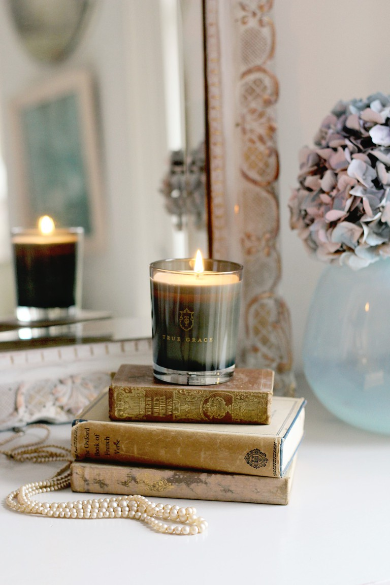 Black Lily Scented Candle by True Grace - Lifestyle