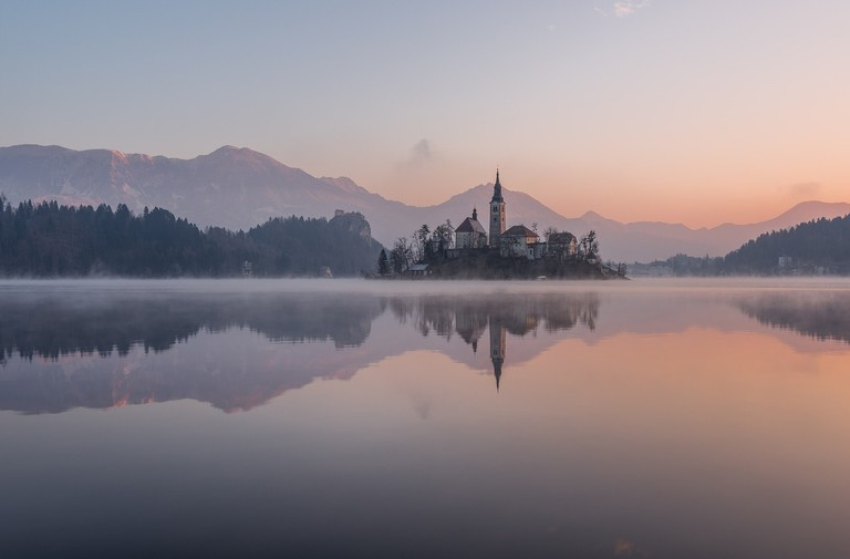 Lake Bled in the Winter
