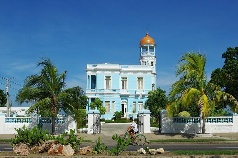 Blue house, blue sky