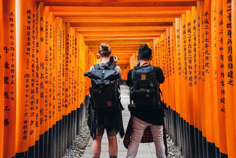 Travelers in Japan