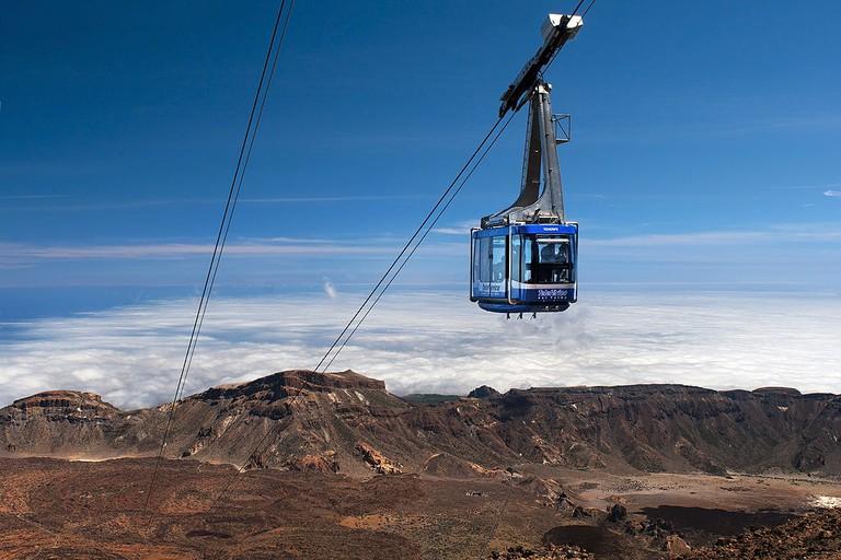 Cable car up Mount Teide | © Gabriel gironés/Wikimedia Commons