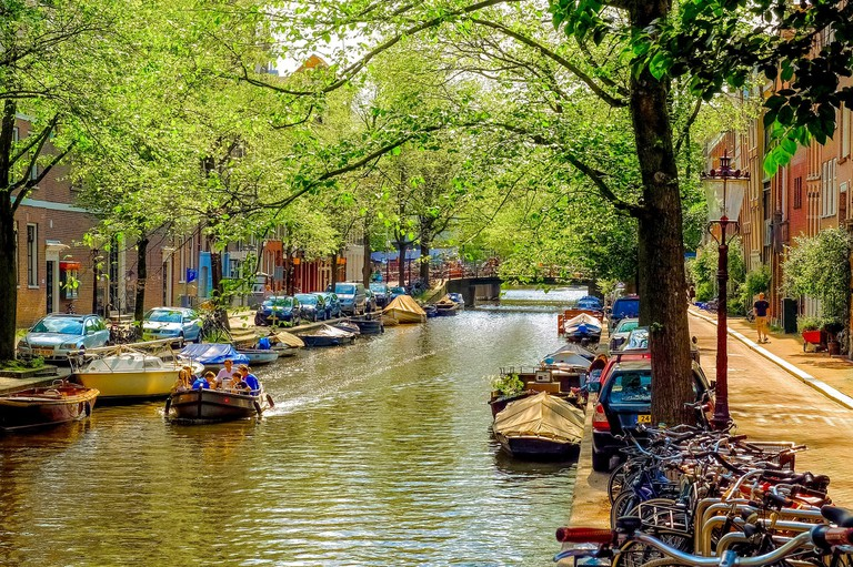 Get hitched on Amsterdam's canals with Blue Boat