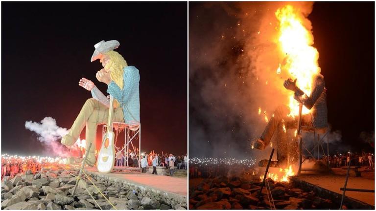 Carnival Pappa effigy burning