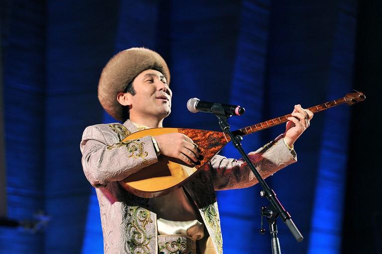 Dombra celebrations in Kazakhstan