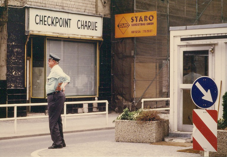 Checkpoint Charlie in West Berlin August 1986