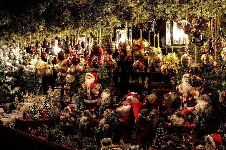 Christmas decorations at the Christmas Fair