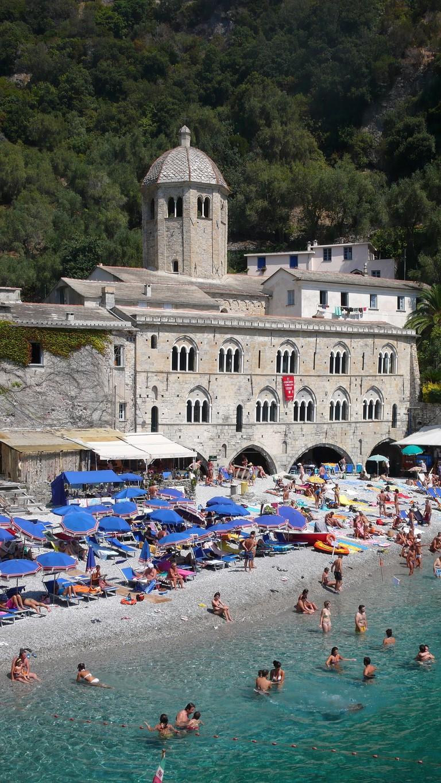 The bay of Abbazia San Fruttuoso in Camogli